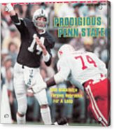 Prodigious Penn State Todd Blackledge Throws Nebraska For A Sports Illustrated Cover Acrylic Print