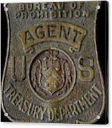 Prohibition Agent Badge Acrylic Print