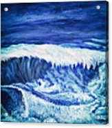 Promethea Ocean Triptych 2 Acrylic Print