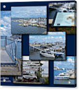 Provincetown Marina Cape Cod Massachusetts Collage Acrylic Print