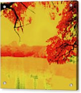Psychedelic Lake Acrylic Print