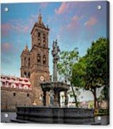 Puebla Zocalo And Cathedral Acrylic Print