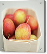 Punnet Of Victoria Plums Acrylic Print