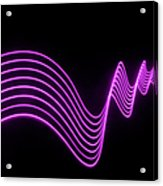 Purple Abstract Lights Trails And Acrylic Print