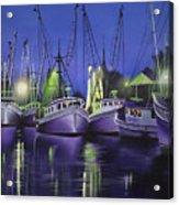Purple Boats Acrylic Print