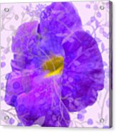 Purple Morning Glory With Pattern Acrylic Print