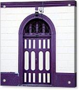 Purple On White Acrylic Print
