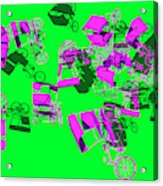 Purple Rickshaws Flying Acrylic Print