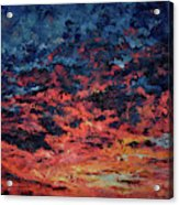 Purple Sun Acrylic Print