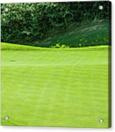 Putting Green And Flag At A Golf Course Acrylic Print