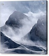 Pyramide And Roc Merlet In Courchevel Acrylic Print