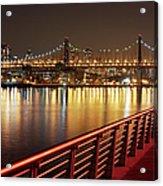 Queensboro Bridge At Night Acrylic Print