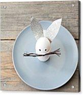 Rabbit Decoration On Plate Acrylic Print