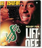 Raghib Ismail, 1991 Nfl Football Draft Preview Sports Illustrated Cover Acrylic Print