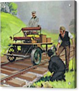 Railway Automobile Acrylic Print