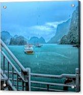 Rain Aboard Au Co Cruise Ha Long Bay  Acrylic Print