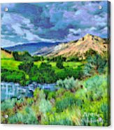 Rain Clouds On The Way To Sweetwater Acrylic Print