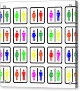 Rainbow Gender Men Women Study Acrylic Print