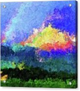 Rainbow Mountain - Breaking The Gridlock Of Hate Number 5 Acrylic Print