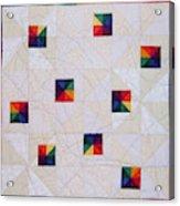 Rainbow Pinwheel Acrylic Print