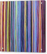 Rainbow Stripes Purple Gold 201912 Acrylic Print