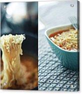 Ramen Noodles Diptych Acrylic Print