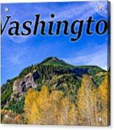 Randle Washington In Fall Acrylic Print