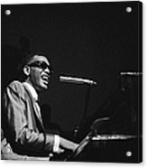 Ray Charles Behind The Scence At The Acrylic Print
