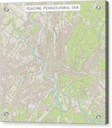 Reading Pennsylvania Us City Street Map Acrylic Print