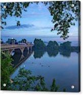Receding Fog On The River Acrylic Print