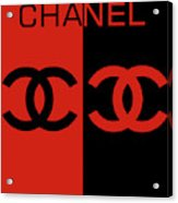 Red And Black Chanel Acrylic Print