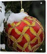 Red And Gold Ornament Acrylic Print