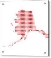 Red Dot Map Of Alaska Acrylic Print