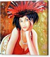 Red Hat Acrylic Print