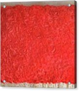 Red Pillow, Decorative. Ameynra Home Decor Acrylic Print