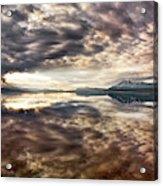 Red Rock Lake Sunrise Acrylic Print