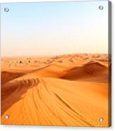 Red Sand Arabian Desert Near Dubai Acrylic Print