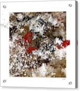 Red Splashes Acrylic Print