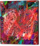 Red Swirls Acrylic Print