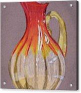 Red Vase Acrylic Print
