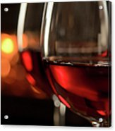 Red Wine By The Fire Acrylic Print