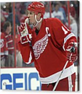 Red Wings V Hurricanes Acrylic Print