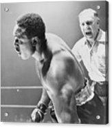 Referee Counting As Boxer Archie Moore Acrylic Print