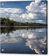 Reflections In Amazon River Acrylic Print