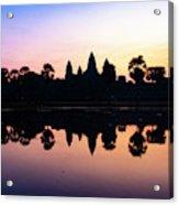 Reflections Of Angkor Wat - Siem Reap, Cambodia Acrylic Print