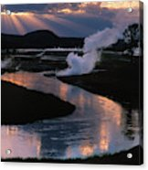 Reflections On The Firehole River Acrylic Print