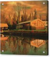 Reflections On The Wey Acrylic Print
