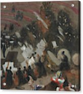 Rehearsal Of The Pasdeloup Orchestra At The Cirque D'hiver Acrylic Print