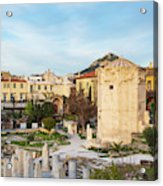 Remains Of The Roman Agora And Tower Of The Winds In Athens Acrylic Print