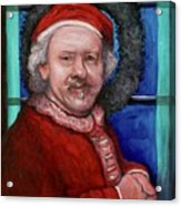 Rembrandt Santa Acrylic Print